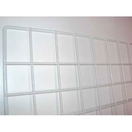 Malla expositora blanca de margen simple 60x150 cm