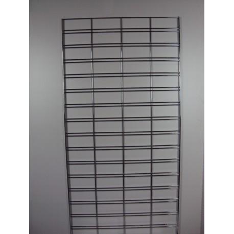 Malla expositora cromada margen simple 60x150cm