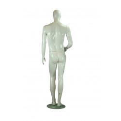 Maniquí de hombre de fibra de vídrio color blanco brillo