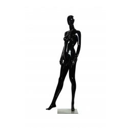 Maniquí de mujer color negro brillo