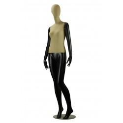 Maniquí de mujer fibra vídrio y tela negro mate