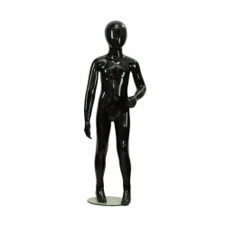 Maniquí infantil color negro brillo sin facciones 4-6 años