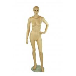 Maniquí de mujer realista color carne mano izquierda en cintura