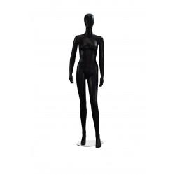 Maniquí de mujer color negro brillo sin facciones simple