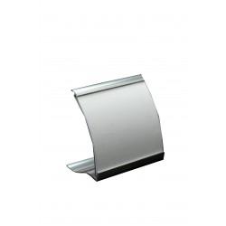 Marca precios escaparate curvo plata 6x7x3cm