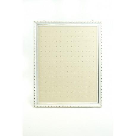 Marco expositor para pendientes grande en lino beige 50x60cm