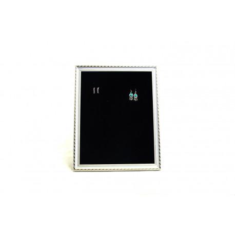 Marco expositor para pendientes grande en terciopelo negro 50x60cm