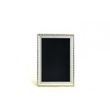 Marco expositor para pendientes en terciopelo negro 25x30 cm
