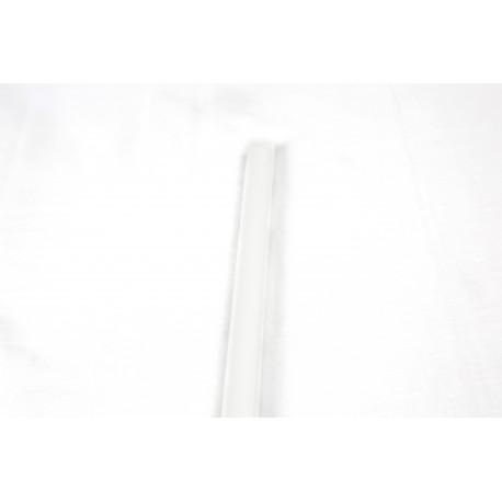 Mediacaña mdf color blanco para panel de lamas 240cm