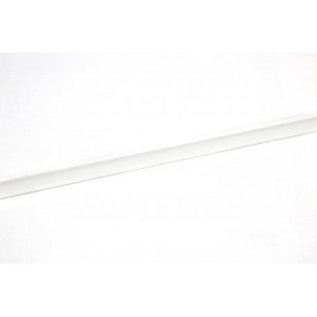 Media caña para panel de lama de madera mdf blanca 240cm