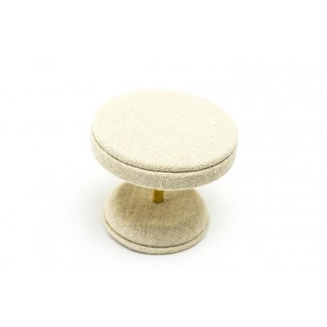 Mesita expositora de joyería en lino beige 8 cm