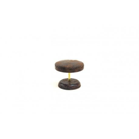 Mesa expositora de joyería en polipiel veteado marrón 7 cm