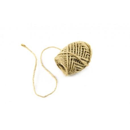 Ovillo de cuerda rústica beige 10 metros