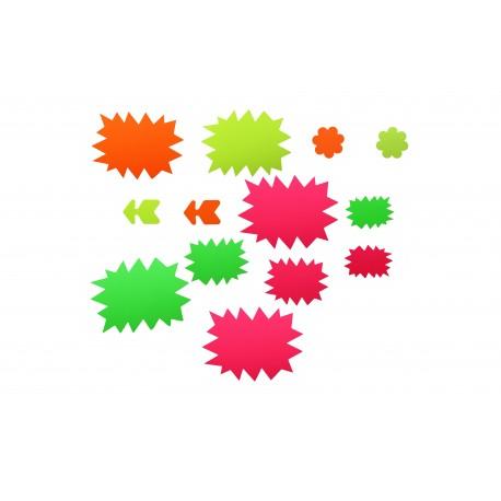 Pack de carteles oferta varios colores y formas