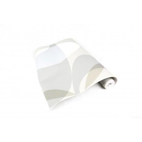Rollo de papel pared pintado gris/azul/blanco 10 metros