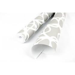 Rollo de papel pared pintado gris/blanco 10 metros