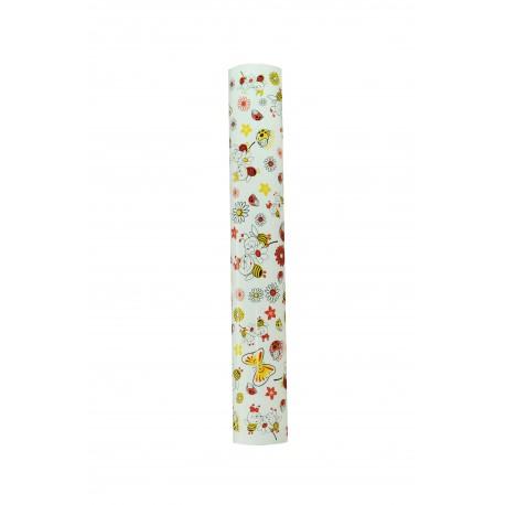Papel de regalo estampado abejas fondo blanco 62cm