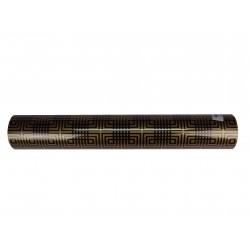 Papel de regalo estampado dorado fondo negro 62cm