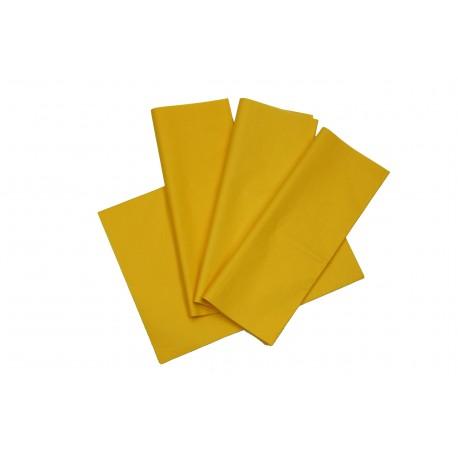 Papel de seda color amarillo 75x50cm 100 und