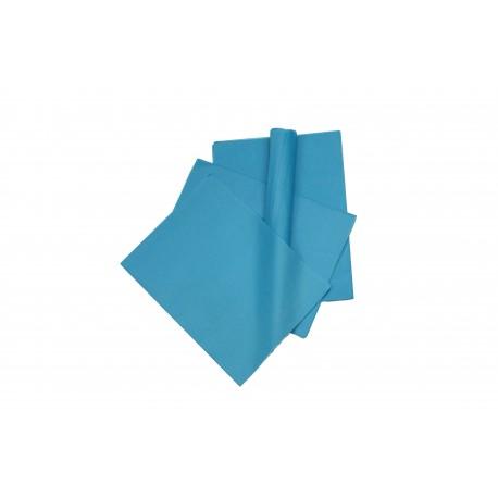 Papel de seda color azul 75x50cm 100 und