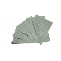 Papel de seda blanco estampado estrellas plata 75x50cm 100 und