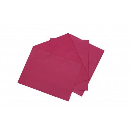 Papel de seda color fucsia 75x50cm 100 und
