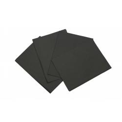 Papel de seda negro 75x50cm 100 unidades