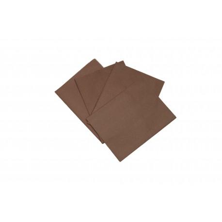 Papel de seda color marrón 75x50cm 100 und