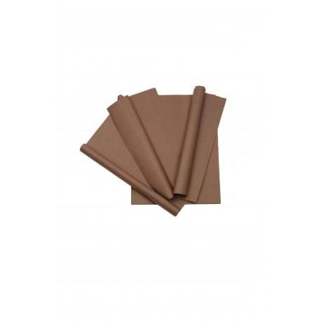 Papel de seda marrón 75x50cm 100 unidades