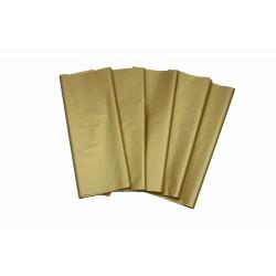 Papel de seda oro 62x86cm 100 unidades