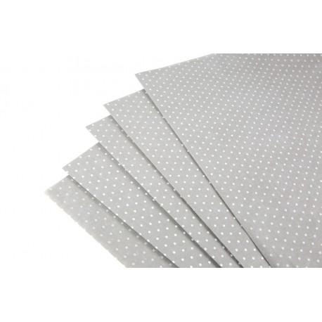Papel de seda estampado puntos blancos fondo marrón 62x86cm 100 unidades