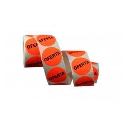Etiquetas de precios ofertas para tiendas naranja