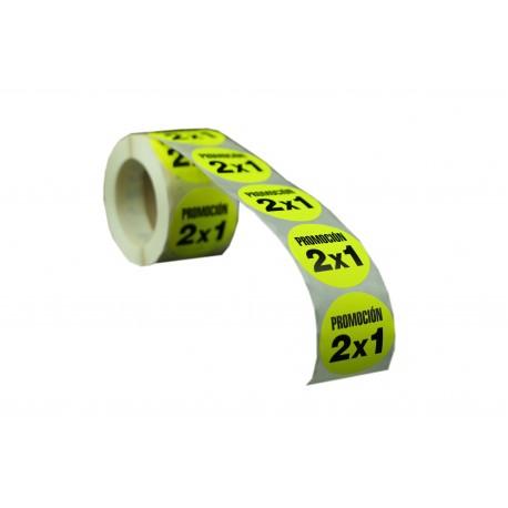 Etiquetas de precios promoción 2x1 para tiendas 55mm