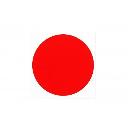 Pegatina punto rojo 15x15cm