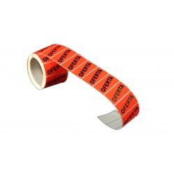 Etiquetas de precios rectangular oferta para tiendas 4.8x2.5cm