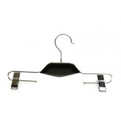 Percha de metal con pinzas color negro precio unitario