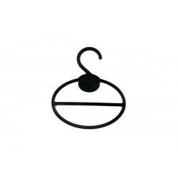 Percha de plástico ovalada para fulares color negro 10 unidades
