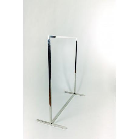 Perchero de acero simple con tubo cuadrado 130x120x50cm