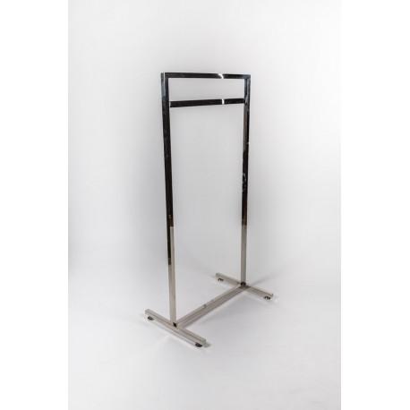 Perchero de acero simple con barra 135x66cm