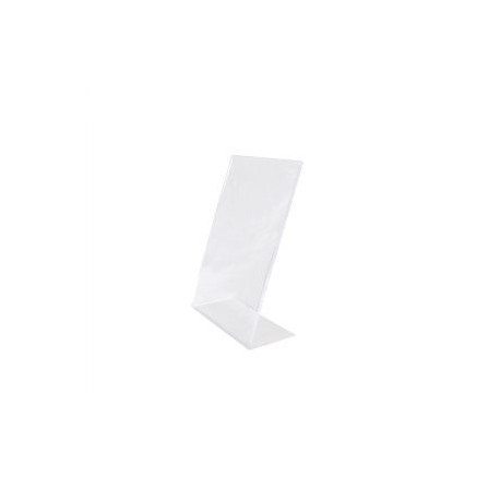 Portacartel acrílico A5 forma L 21x15x8.5cm