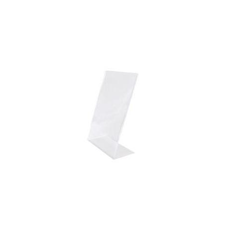 Portacartel acrílico A7 forma L 10.5x8x5cm