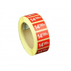 ROLLO ETIQUETA 14,99 €25X15MM 1000 UNIDADES