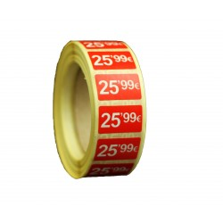 ROLLO ETIQUETAS 25,99 €25X15 MM 1000 UDS