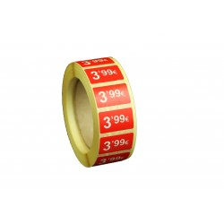 ROLLO ETIQUETAS 3,99 €25X15MM 1000 UDS