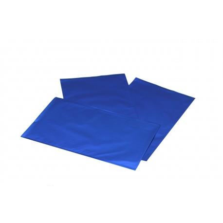 Sobres de papel azul metalizado 40x25cm 50 unidades