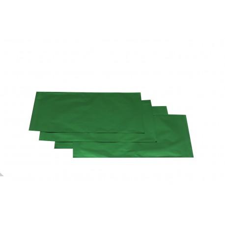 Sobres de papel verde metalizado 60x40cm 50 unidades