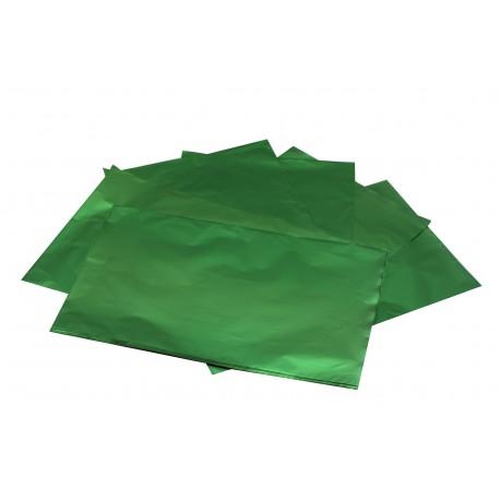 Sobres de papel verde metalizado 40x60cm 50 unidades