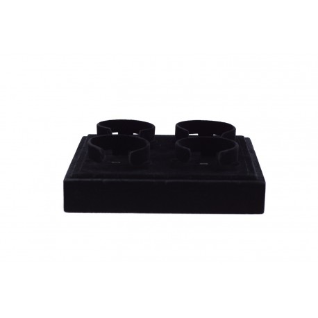 Bandeja expositora para pulseras en terciopelo negro 18.5x15.5 cm