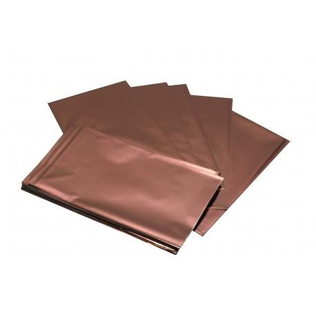 Sobres de papel marrón metalizado 25x15cm 100 unidades