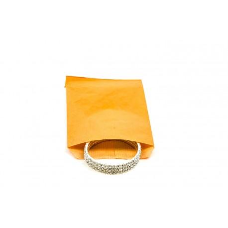 Sobres de papel kraft naranja 9x14cm 100 unidades